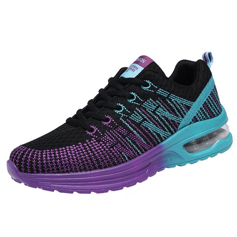 أحذية جديدة موضة 2021 أحذية رياضية نسائية مزودة بشبكة هوائية مقاس كبير 42 أحذية رياضية نسائية مسطحة