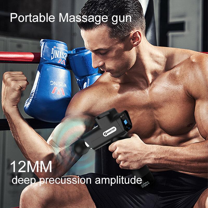 الداعم M2-D تدليك بندقية الأنسجة العميقة قرع الرقبة عودة الجسم مدلك المحمولة اللفافة بندقية العضلات الاسترخاء جهاز مساج كهربائي