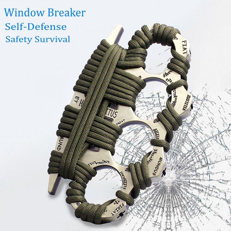في الهواء الطلق متعددة الوظائف أداة الدفاع الذاتي EDC فنجر المفاصل خواتم الأدوات التكتيكية السلامة بقاء سبائك الزنك مطرقة كسر النافذة