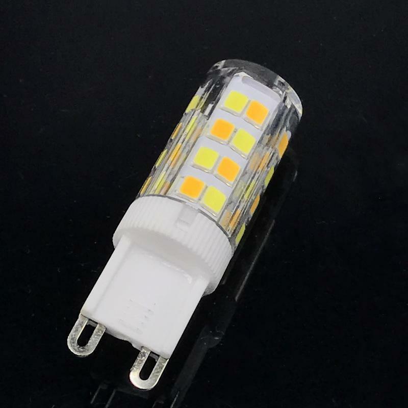 السيراميك عكس الضوء مصباح ليد مصدر ثلاثي اللون تغيير غطاء الكمبيوتر G4 G9 E14 7 واط 220 فولت 700LM SMD2835