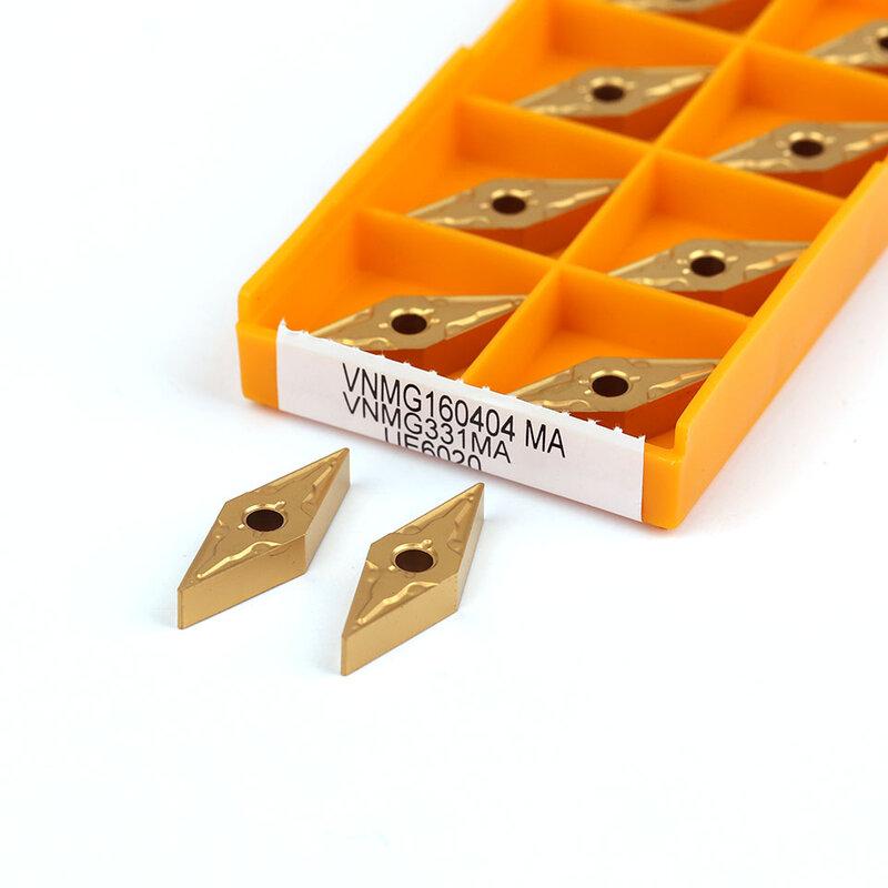 أداة تحول خارجية إدراج كربيد, VNMG160404 MA VNMG160408 MA VP15TF US735UE6020 أداة تحول خارجية إدراج كربيد أداة آلة CNC أداة قابلة للفهرسة