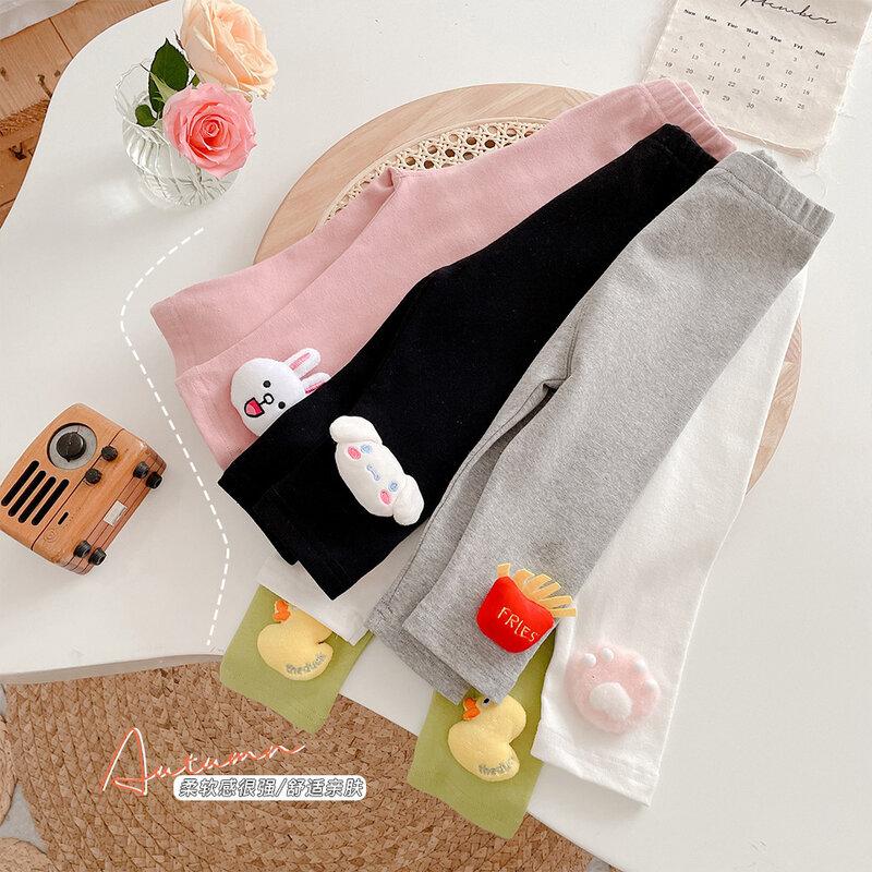 الإناث الطفل ثلاثية الأبعاد عروسة كارتون طماق لباس خارجي 2021New الطفل سراويل تقليدية النمط الغربي للأطفال بنطلون كل مباراة