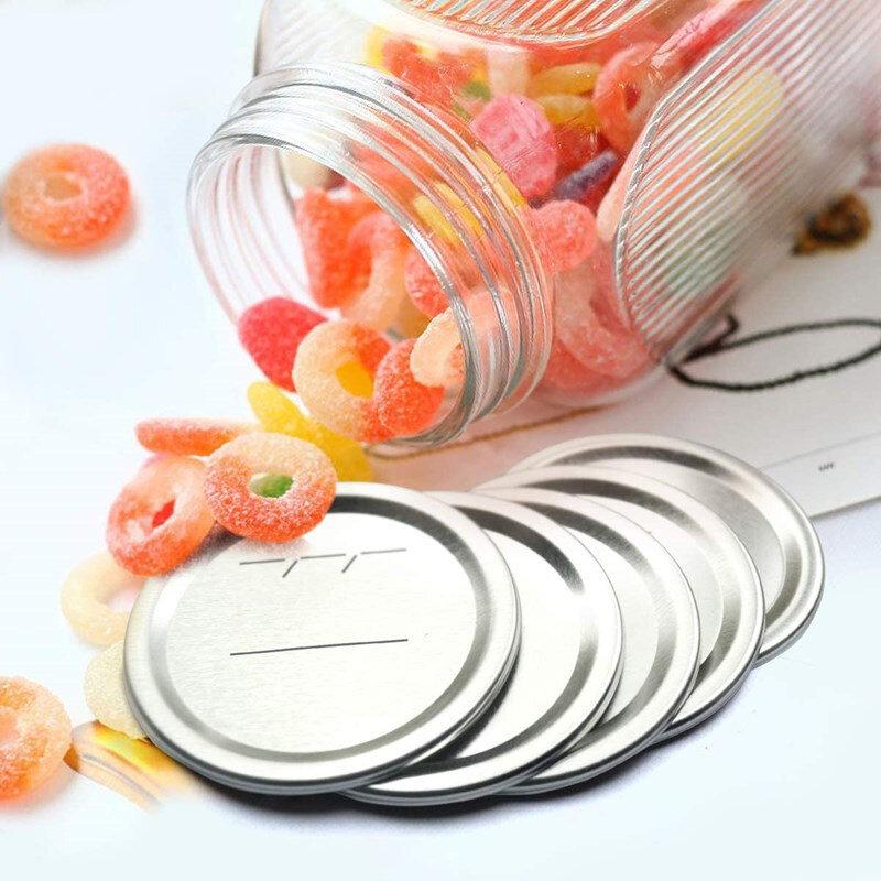 10 قطعة 70/86 مللي متر العادية الفم تعليب الأغطية وعاء من المعدن الأغطية لتعليب المواد الغذائية