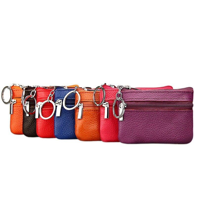 بطاقة محفظة بولي Leather جلد محفظة للعملة المرأة الصغيرة تغيير أكياس المال جيب محافظ حافظة مفاتيح صغيرة وظيفية الحقيبة سستة