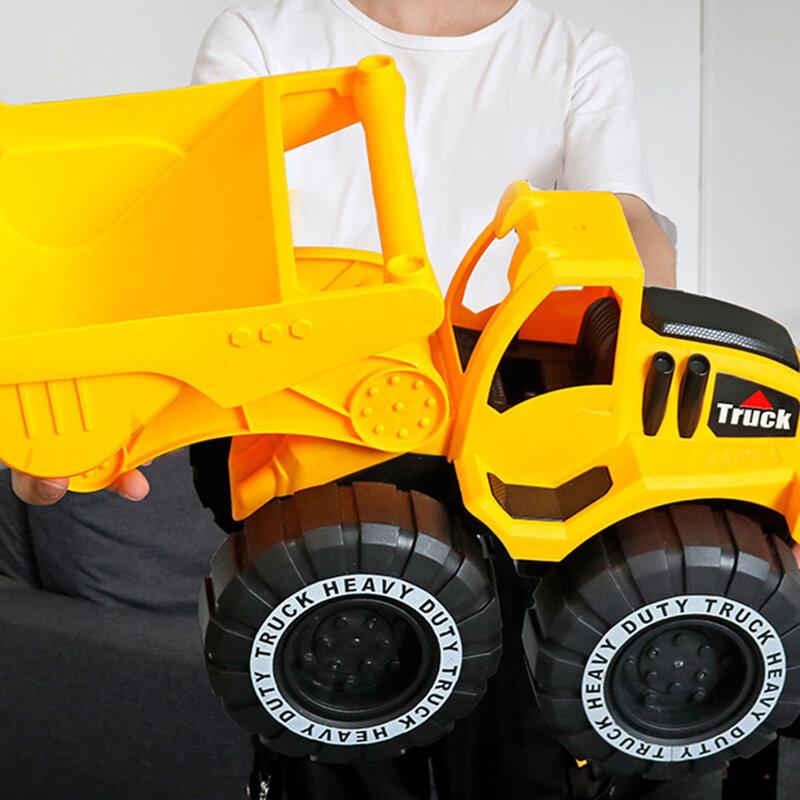 سيارات لعبة كبيرة الحجم مدينة البناء لودر أطفال بالريموت كنترول الأطفال حفارة شاحنة الرمال حفر لعب الاطفال لعبة هدية لعيد ميلاد