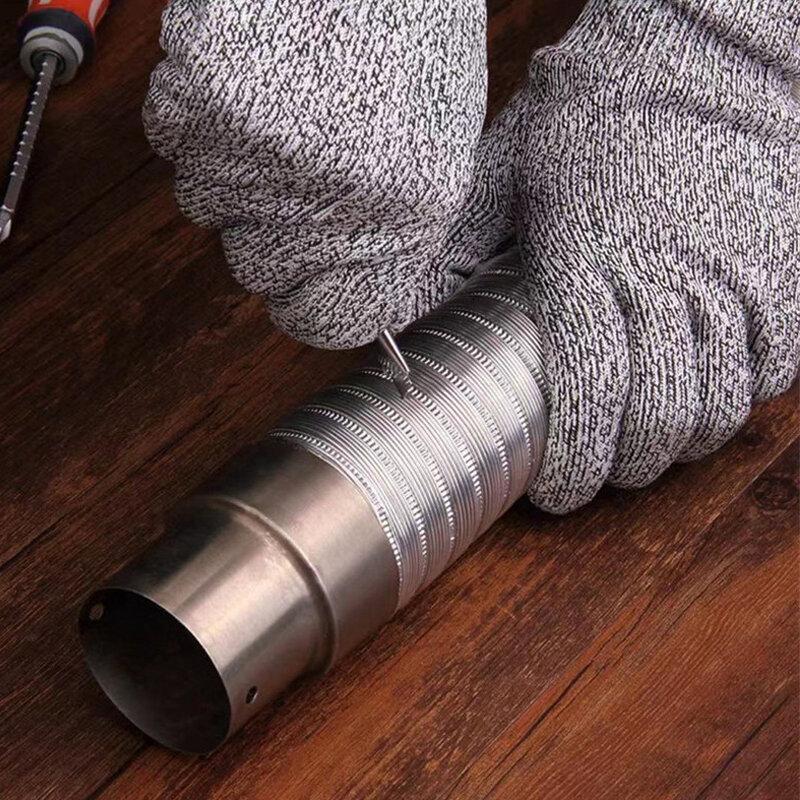 قطع مقاومة مستوى 5 طائرة ورقية الصيد قفازات مقاومة للاهتراء المضادة للثقب المضادة للانزلاق شبكة معدنية المطبخ جزار التكتيكية أداة