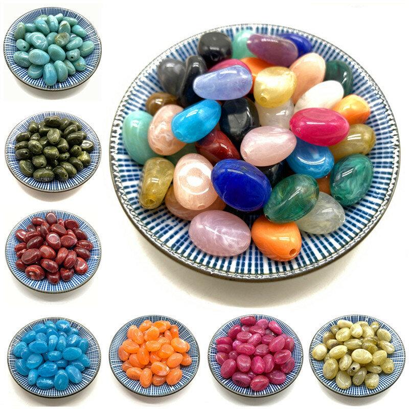 10 قطعة 10*14*20 مللي متر البيضاوي الاكريليك الخرز أقراط قلادة اكسسوارات الخرز لصنع المجوهرات DIY الاكسسوارات والمجوهرات