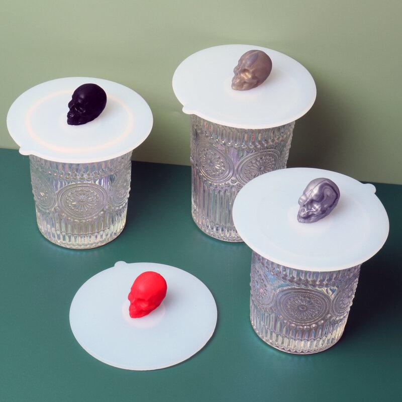 شفافة الغبار والحشرات برهان كوب سيليكون غطاء مانعة للتسرب قابلة لإعادة الاستخدام غطاء عازل كأس القهوة قدح زجاجي كوب الملحقات