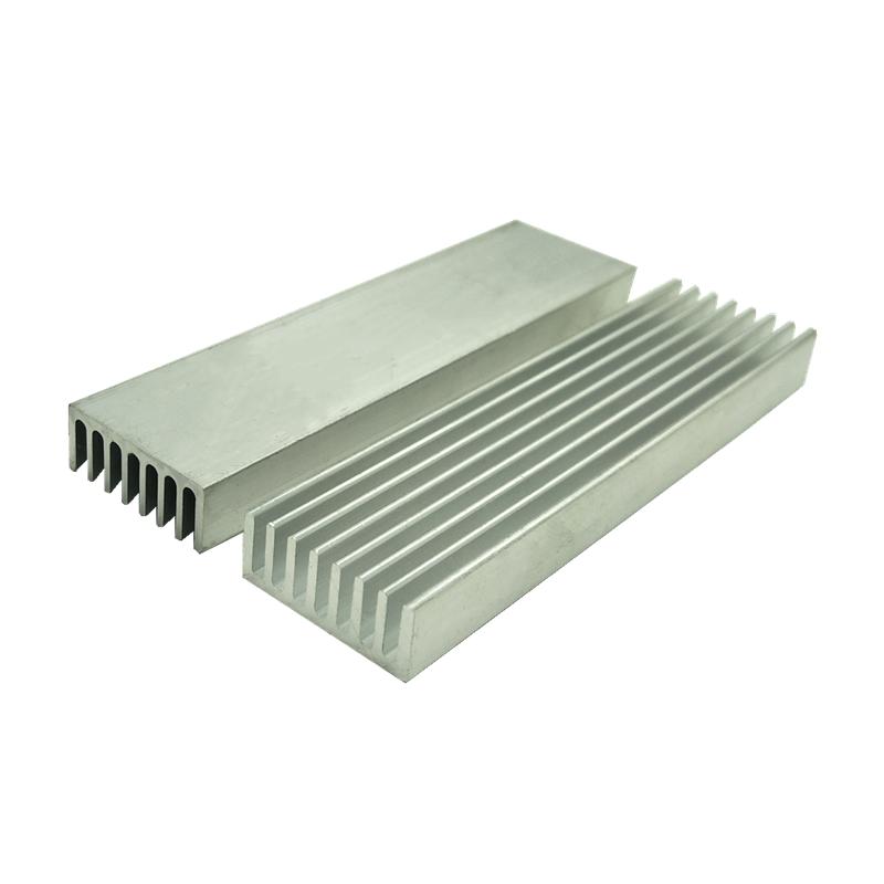 10 قطعة/الوحدة الألومنيوم بالوعة الحرارة E-شكل طويل بالوعة الحرارة عالية الطاقة بالوعة الحرارة 100*25*10