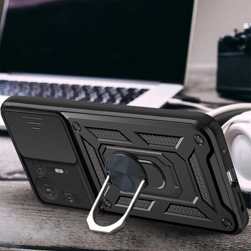 حافظة الخاتم لـ Mix 4 متينة متينة متينة مضادة للصدمات لينة من البولي يوريثان على غطاء مغناطيسي للسيارة لهواتف شاومي Mix4 5G