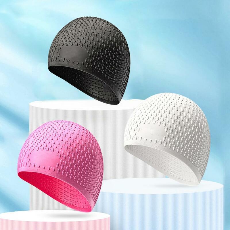 50% قبعة hotswim للجنسين مقاوم للماء سيليكون كبير مريح قبعة السباحة للبالغين الشعر الطويل
