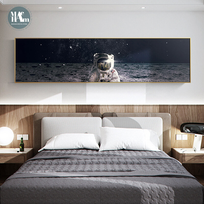 الشمال كوكب الفضاء رائد الفضاء طويل الصورة جدار ملصق اللوحة غرفة المعيشة غرفة نوم رئيس قماش اللوحة جدار الفن جدارية