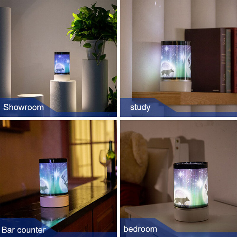 مصباح LED متعدد الوظائف مع جهاز تحكم عن بعد ، محمول ، ديكور غرفة النوم ، مصباح الإسقاط ، الجو ، السرير