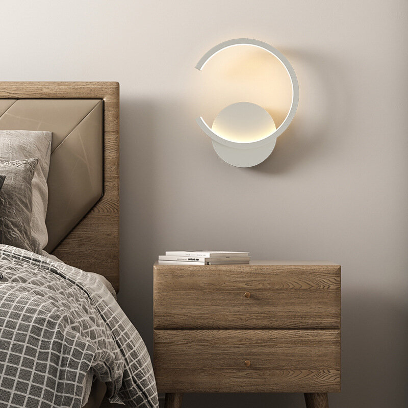 الجدار مصباح غرفة نوم شخصية الإبداعية أباجورة الشمال غرفة المعيشة حائط الخلفية مصباح بسيط LED الممر مصابيح