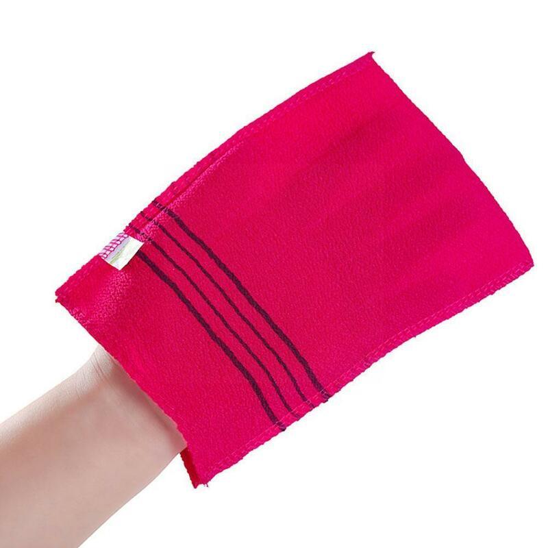 1 قطعة منشفة الوجهين الكورية التقشير حمام منشفة فرك المحمولة للكبار الخشنة دش الجسم منشفة منشفة الحبوب L0w7