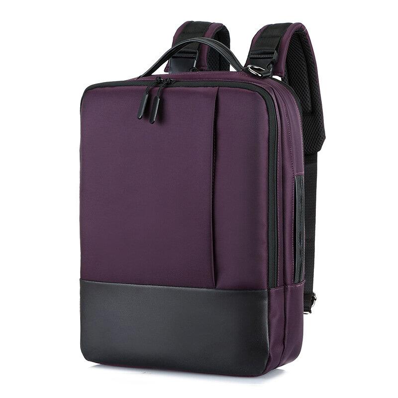 حقيبة كتف متعددة الوظائف للرجال مع شاحن USB ، حقيبة ظهر للكمبيوتر ، حقيبة سفر للطلاب