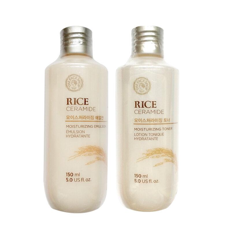 مستحضرات التجميل الكورية الأرز مجموعة الحبر 150 مللي + مستحلب 150 مللي الأرز سيراميد ترطيب تحسين البشرة الجافة 5.0 الولايات المتحدة fl.oz