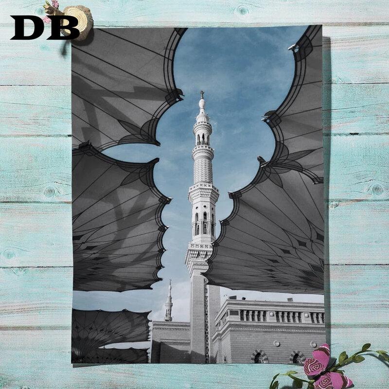 ماليزيا مسجد برج بناء الشمال الملصقات والمطبوعات الإسلامية الرسم على لوحات القماش الجدارية جدار صور لغرفة المعيشة ديكور