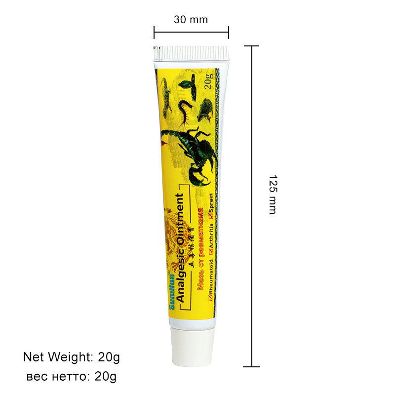 Sumifun 3 قطعة مرهم العقرب جديد لتخفيف الآلام مرهم كريم العشبية لالتهاب المفاصل الروماتويدي فرك العضلات الجص الطبية