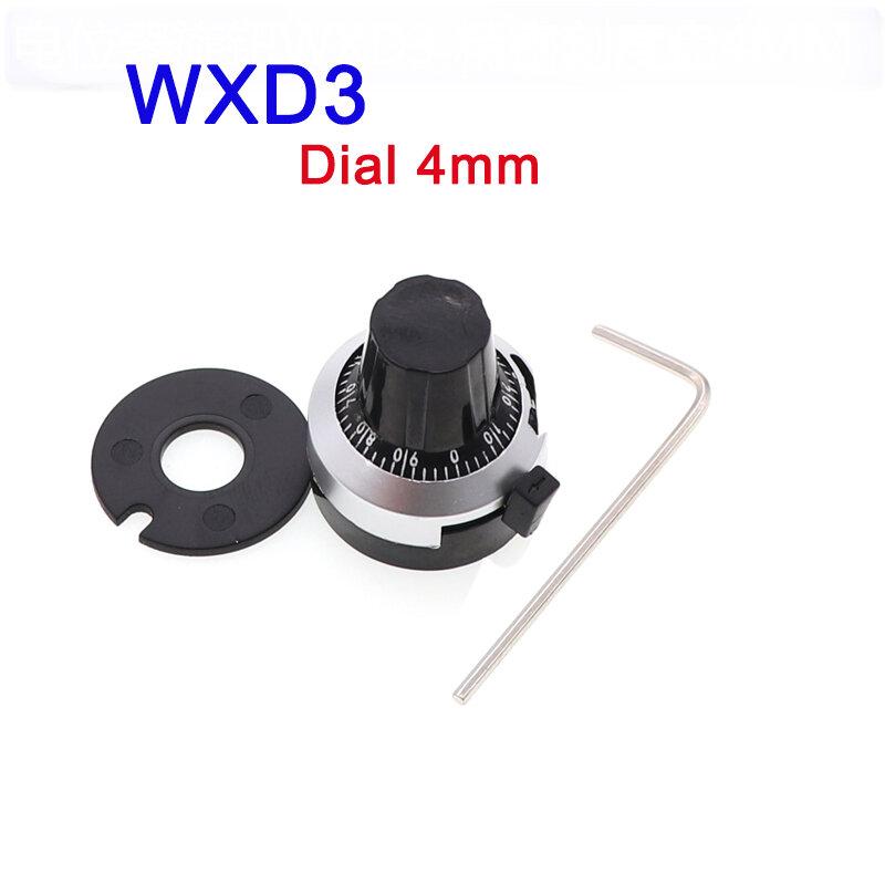 WXD3 الجهد مقبض عدة مع مقياس رقمي ، 4 مللي متر الباكليت مقبض ل WXD3-2W Multiturn الجهد
