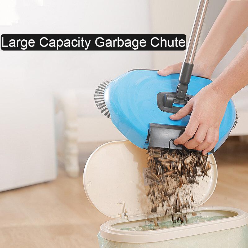 ماكينة كنس يدوية، من الفولاذ المقاوم للصدأ ،مجموعة التنظيف المنزلي, المكنسة السحرية ، تعمل بالدفع