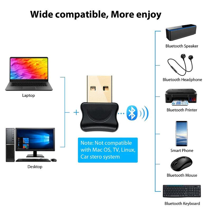 USB استقبال الارسال محول بلوتوث 5.0 استقبال الصوت للكمبيوتر المحمول Win 10 8 الارسال اللاسلكي دونغل محول