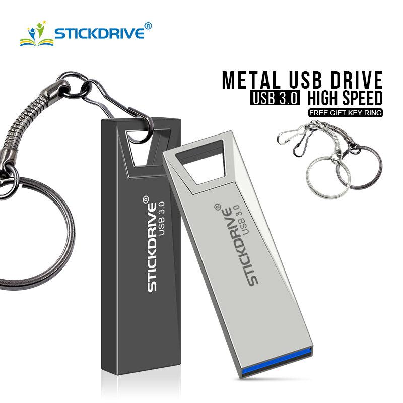 معدن USB 3.0 فلاش حملة 128 جيجابايت 64 جيجابايت فلاش حملة 16 جيجابايت 32 جيجابايت القلم محرك u القرص USB3.0 العصي محرك فلاش usb للكمبيوتر