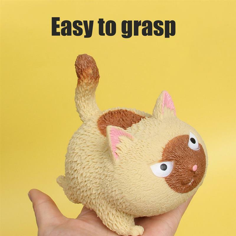قرصة غاضب القط لطيف الحيوانات الأليفة لعبة القط على شكل ضغط الإجهاد الإغاثة الكرة الضغط قطعة أثرية تنفيس لعبة ضغط ألعاب حيوانات الاطفال هدية
