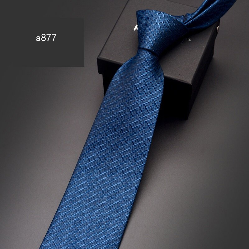 ربطة عنق رجالية لحفلات الزفاف ، بدلة عمل رسمية ذات جودة عالية ، أزرق ، 8 سنتيمتر ، ربطات عنق ، مع صندوق هدايا ، مجموعة جديدة 2020