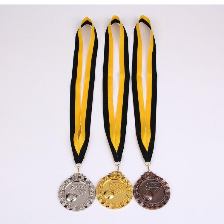 ميدالية رياضية للمدرسة وكرة السلة ، ذهب ، فضي ، برونز ، القدرة على التواصل ، الثقة بالنفس ، تنموية ، 6.5 سنتيمتر