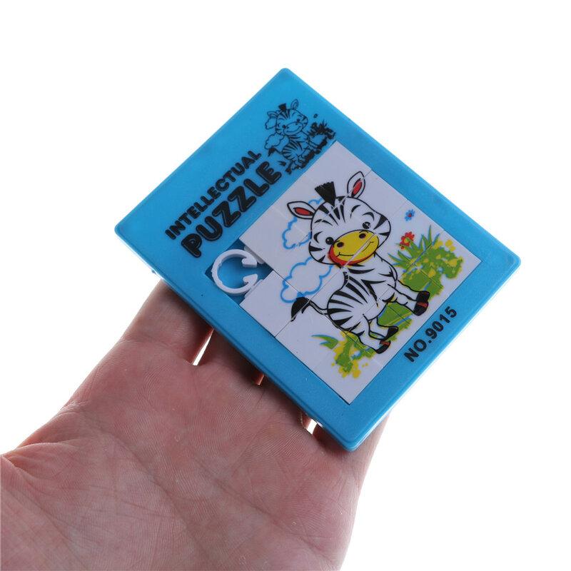 1 قطعة الحيوانات لطيف البلاستيك الشريحة لغز اللعب بازل قطع الاطفال هدية للأطفال بناء ألعاب تعليمية عشوائي