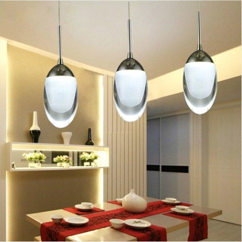 BDBQBL-مصباح معلق أكريليك LED ، تصميم حديث ، سحر ، إضاءة داخلية ، مثالي للدور العلوي أو غرفة الطعام أو البار.