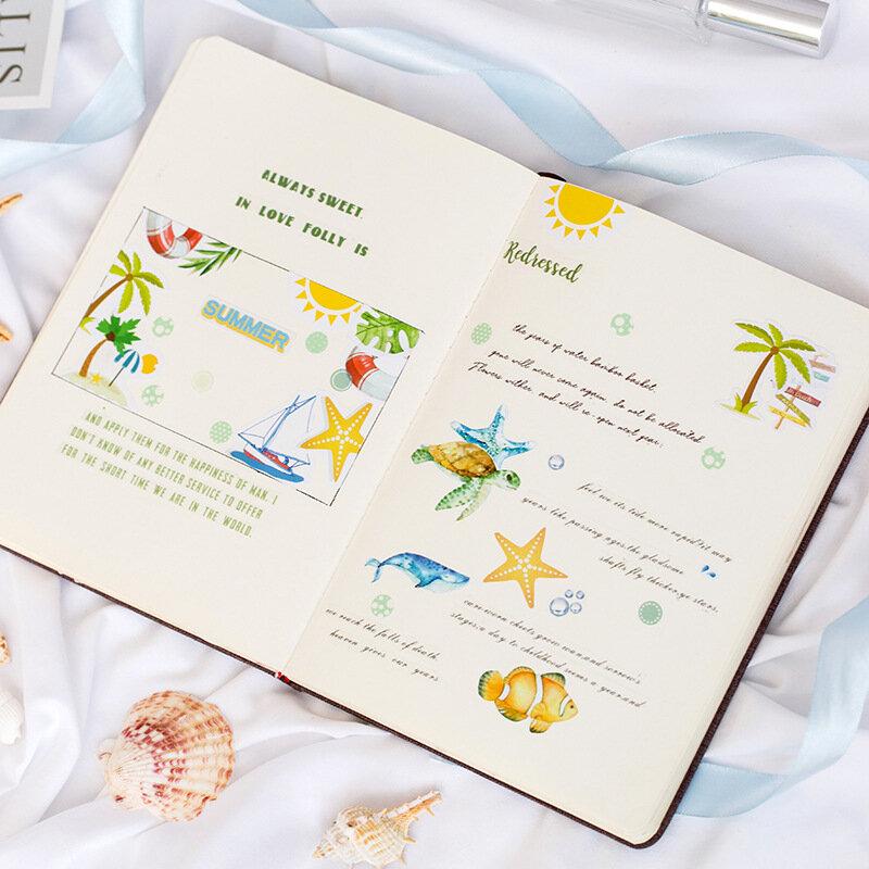 50 قطعة/الحزمة الصيف تقدم الزخرفية ملصقات لاصقة ملصقات DIY الديكور مذكرات القرطاسية ملصقات الأطفال هدية