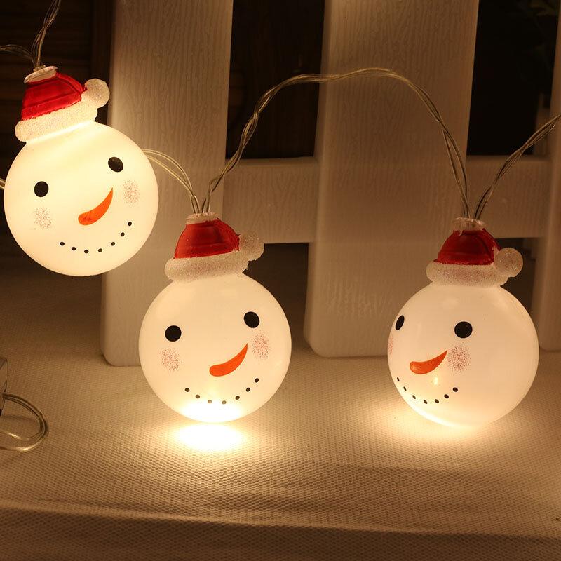 Yijinsky شحن مجاني 2 متر 3.5 متر LED سلسلة ضوء ثلج يرتدي الأحمر عيد الميلاد قبعة للماء لعيد الميلاد عطلة في الهواء الطلق