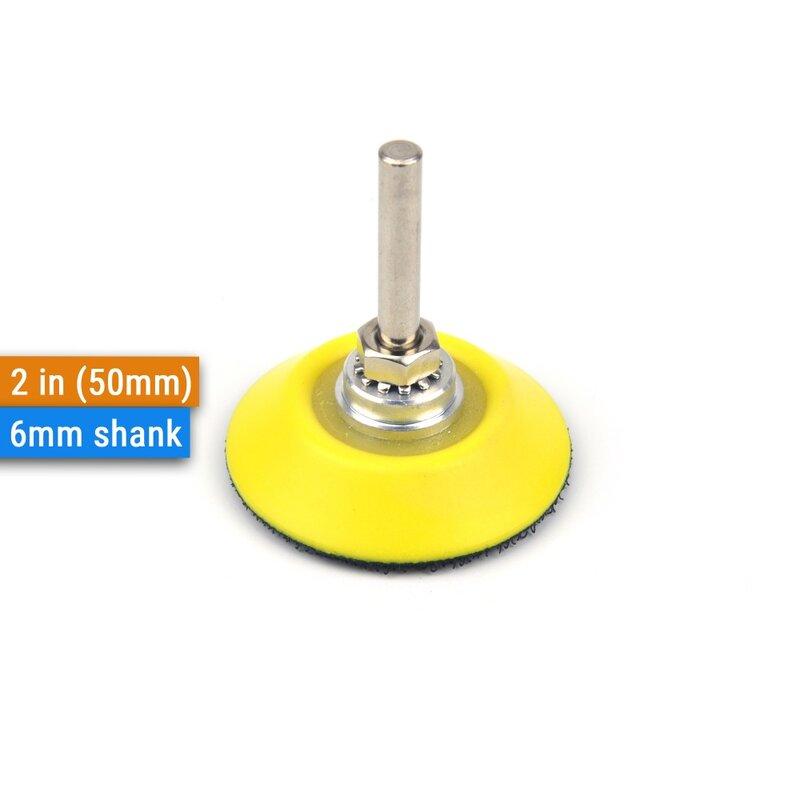 أقراص سنفرة من كربيد السيليكون ، 2 بوصة ، 50 مللي متر ، مع وسادات دعم 6 مللي متر ، رغوة ، واجهة للصنفرة الرطبة والجافة