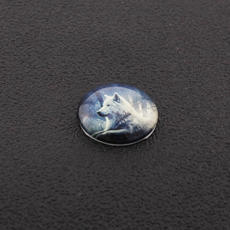 JWEIJIAO اليدوية 5 قطعة/الوحدة موجة نقطة الهندسة نمط DIY الزجاج كابوشون قبة الصور التجريبي شقة عودة جعل نتائج
