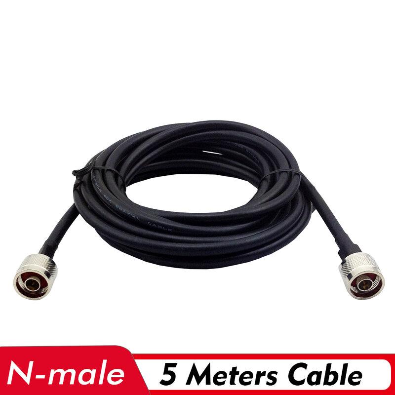كابل محوري 5 أمتار N ذكر ، إشارة منخفضة الخسارة ، اتصال هوائي داخلي/خارجي ، مقوي إشارة 2G/3G/4G