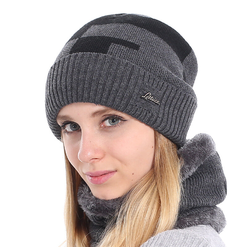 YOUBOME العلامة التجارية النساء Skullies بيني الشتاء القبعات للنساء زائد محبوك قبعة وشاح الرجال الدافئة الصوف سميكة فتاة الإناث قبعة قبعة كاب