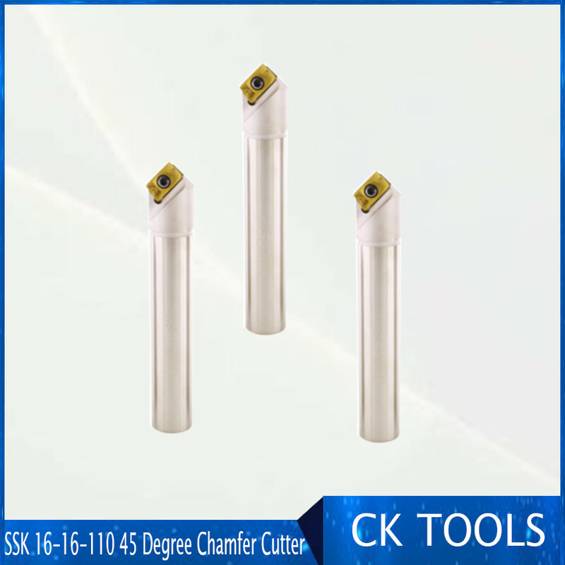Delieach-قاطع تفريز ذو نهاية مشطوفة SSK 16-16-110 45 درجة ، لأدراج كربيد APMT1135 المستخدمة