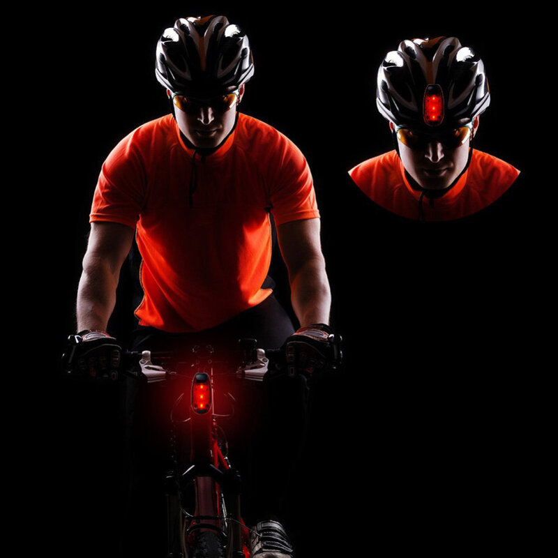 3/5 LED مقاوم للماء دراجة دراجة الدراجات الجبهة الخلفية الذيل خوذة الأحمر أضواء وامضة مصباح تحذير السلامة تشغيل السلامة تحذير ضوء