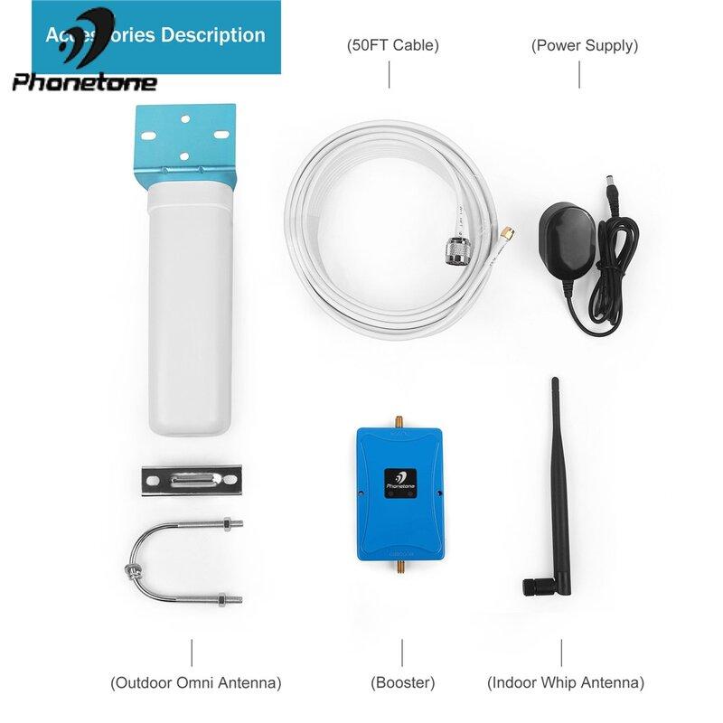 معزز الإشارة الخلوية 3G 4G LTE, UMTS 850/1700MHz AWS مكبر للصوت للهاتف المحمول ثنائي النطاق 5 / 4 مضخم الإشارة للاستخدام المنزلي