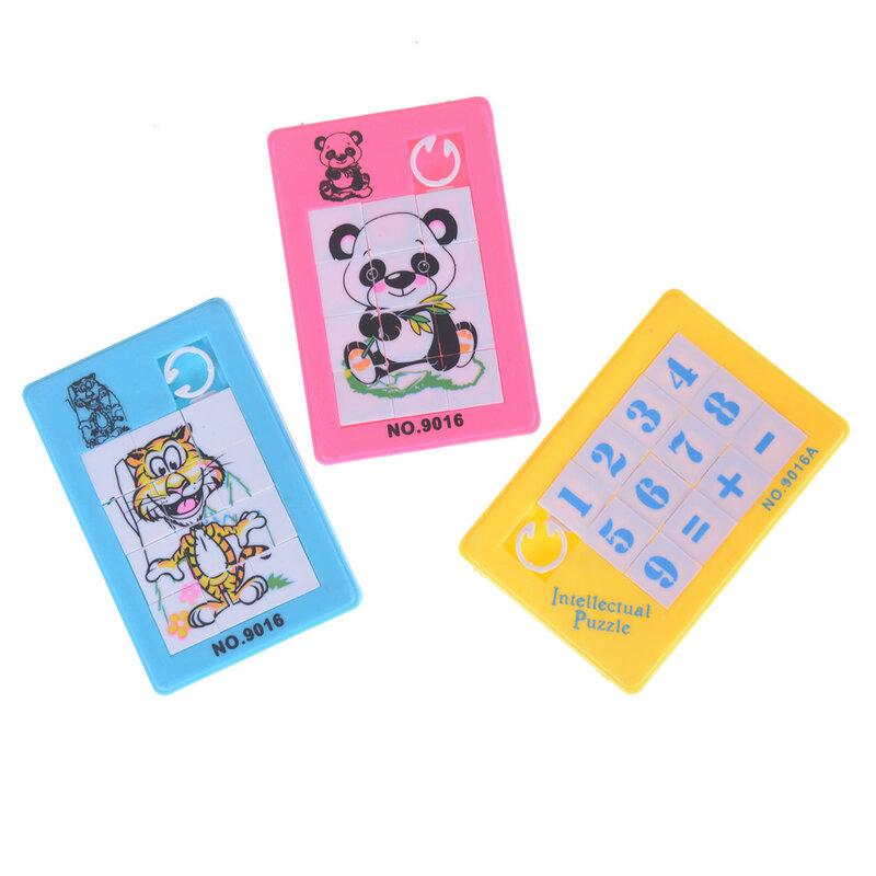 بناء البلاستيك أرقام مضحك بازل قطع اللعب لطيف الحيوانات ألعاب تعليمية للأطفال