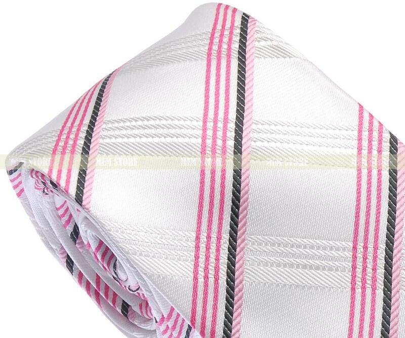 """الأبيض الساخن الوردي المشارب الاختيار 100% المنسوجة الحرير 1200 غرز 2.8 """"(7 سنتيمتر) برقبة الزفاف حزب التعادل GT014"""