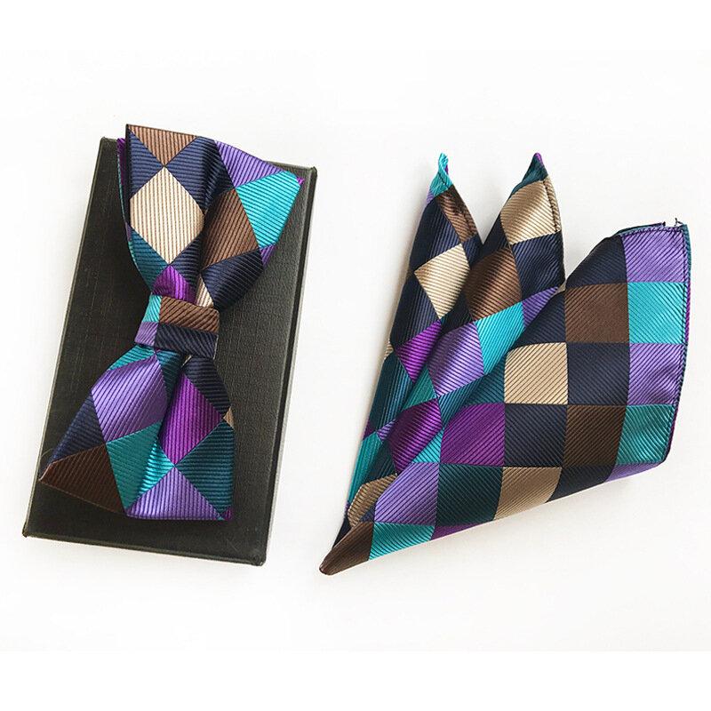 ربطة عنق وجيب للرجال ، نمط متنوع ، كاجوال ، مربعة ، الترتان ، إكسسوارات الحفلات