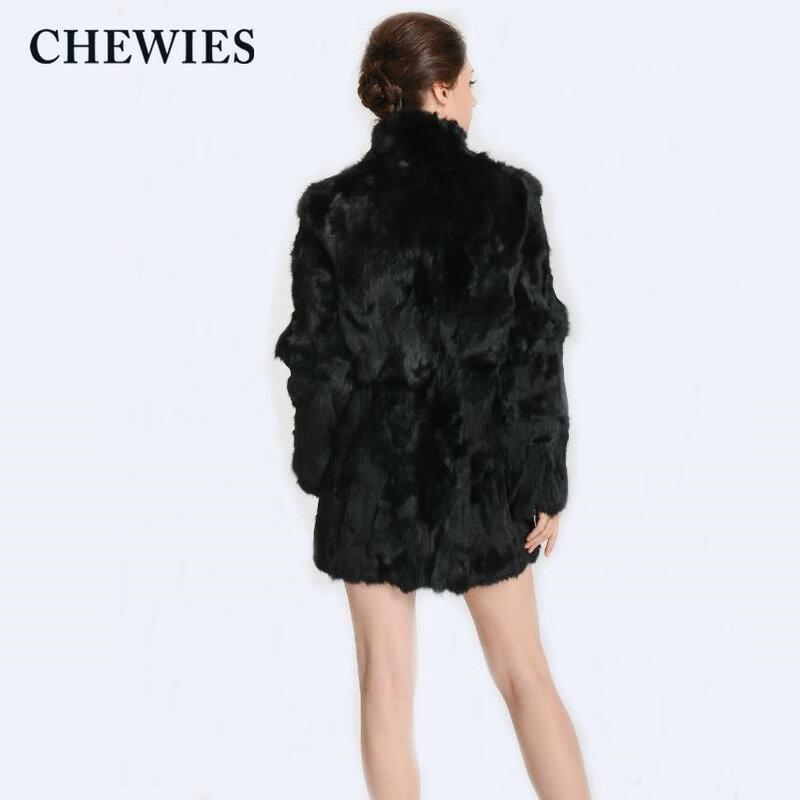 معطف من فرو الأرانب ريكس الحقيقي من CHEWIES جاكيت طويل من الفرو الأصلي مع جيوب وصل حديثًا لعام 2018 المتجر الجديد متوفر بمقاسات كبيرة 5.21
