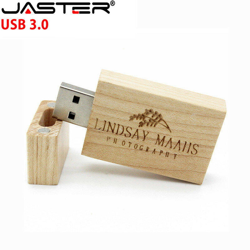 JASTER-محرك أقراص فلاش USB 3.0 خشبي مع شعار العملاء ، وذاكرة 4 جيجابايت 8 جيجابايت 16 جيجابايت 32 جيجابايت ، ومحرك أقراص فلاش خشبي ، وهدية الزفاف