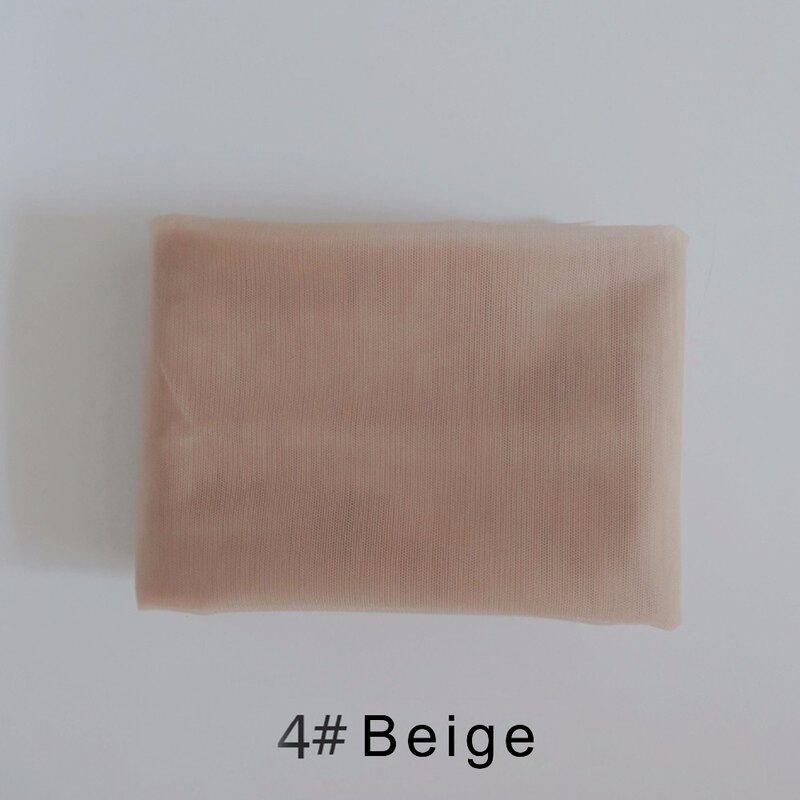 شبكة دانتيل سويسرية 1/4 ياردة لصنع باروكة شعر بالدنتلة ملحقات شبكة الشعر أدوات النسيج شبكة الشعر 6 ألوان متوفرة