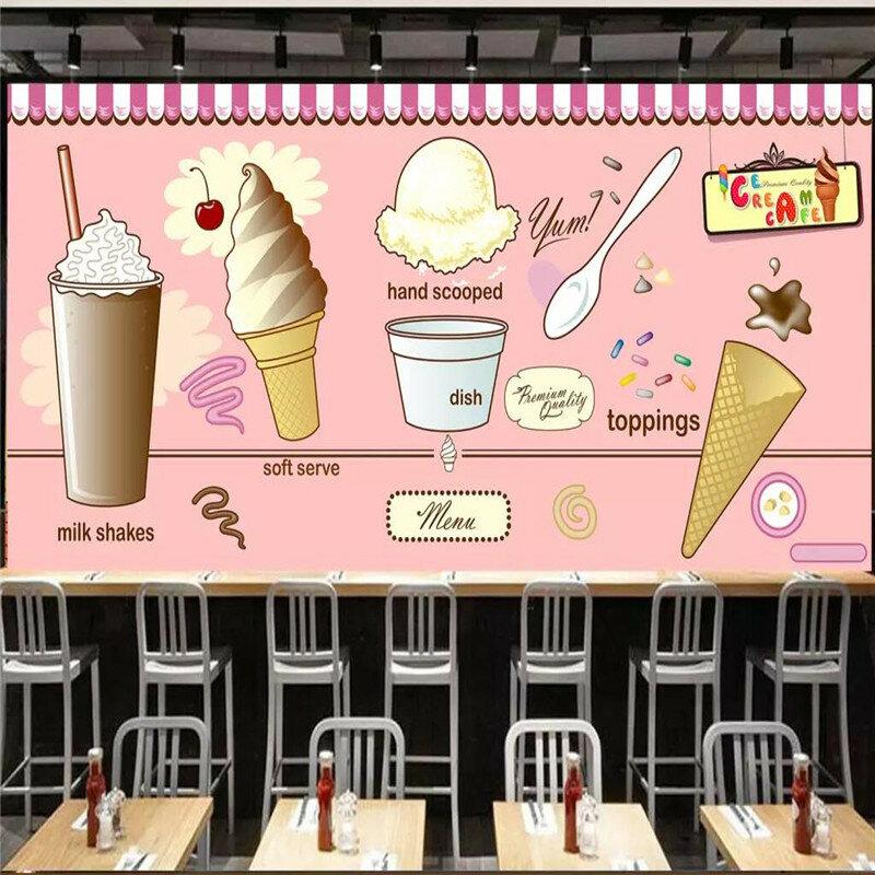 الجليد كريم الآيس كريم مقهى مقهى مطعم خلفية الزخرفية جدار المهنية إنتاج خلفيات جدار