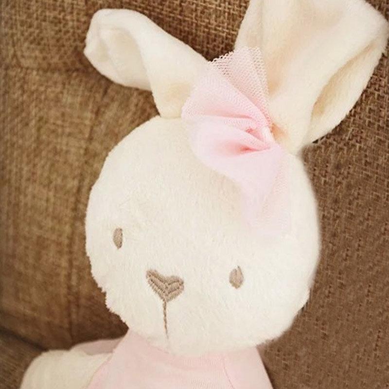 أرنب قطيفة لطيف للفتيات الصغيرات ، لعبة ناعمة ، كاواي ، فراش كبير ، وسادة ، فستان بعقدة ، حيوانات أليفة