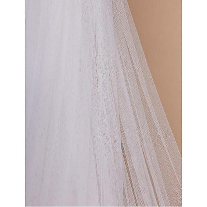 2019 جميلة البيج الحجاب العروس الحجاب الربيع الصيف 3M 6M لينة شبكة أحادي الطبقة الاكسسوارات الصادرات الخارج